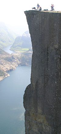 Pulpit Rock and Lysefjord below - 2 of the most popular trips